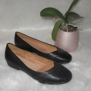 Naturalizer Jaye N5 Contour Black Leather Flats